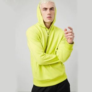 Forever 21 French Terry Neon Lime Hoodie